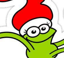 Christmas Frog Jumping out of Joy! Sticker