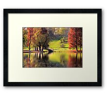 Rusty Autumn morning Framed Print