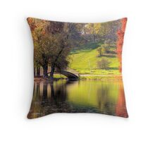 Rusty Autumn morning Throw Pillow