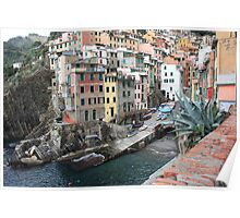 The village of Riomaggiore Poster