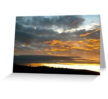 drive by sunset Greeting Card