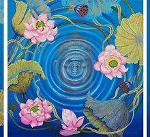 Ripple Effect. Triptych by Yuliya Glavnaya