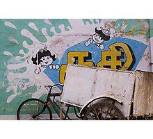 Pondicherry cycle rickshaw Photographic Print