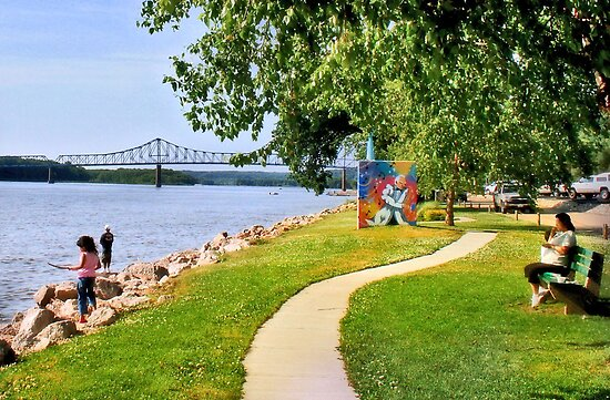 Marquette Park and Sabula Bridge (Savanna, IL) by Nadya Johnson