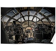 """B-29 Superfortress """"Fifi"""" Cockpit View Poster"""