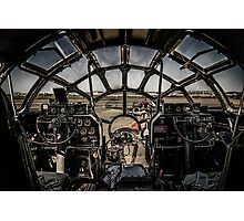 "B-29 Superfortress ""Fifi"" Cockpit View Photographic Print"