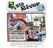 Big River - Life on the Upper Mississippi Then & Now Poster