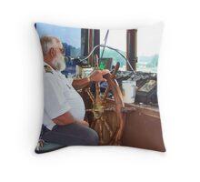 Paddle Wheel Pilot  (Spirit of Dubuque) Throw Pillow