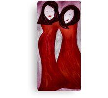 Swinging Sisters Canvas Print