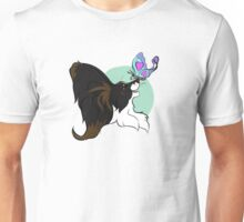 Barking Mad Papillon Pals - Because We're Happy - Wordless Unisex T-Shirt