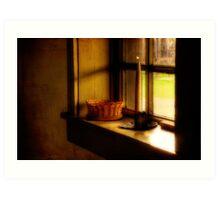 A Light In The Window Art Print