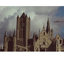 Cathedral in Ghent, Belgium Photographic Print
