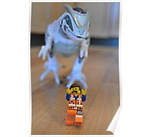Lego Movie Emmet in Trouble  Poster