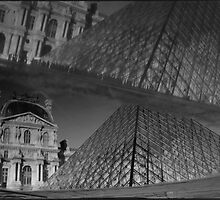 Musée du Louvre, a reflection of, Paris by aldogallery