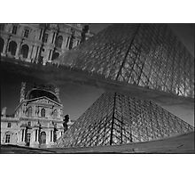 Musée du Louvre, a reflection of, Paris Photographic Print