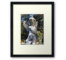Angel with Flowers Framed Print