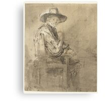 Drawing - Seated Syndic Jacob van Loon, Rembrandt Harmensz. van Rijn, 1661 - 1662  Canvas Print