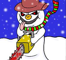 The Chainsaw Snowman by stitchgrin