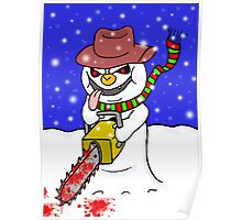 The Chainsaw Snowman Poster