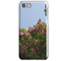 Ruby Red Horse Chestnut Trees iPhone Case/Skin