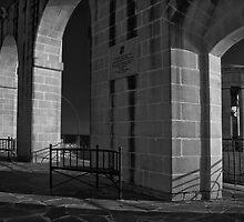 Mono Study -- Lower Barrakka Archway Valletta Malta  by Edwin  Catania