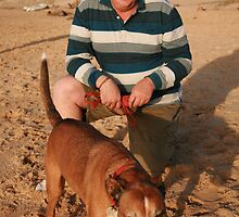 40. Lloyd with Jessie the Staffy X by Cathie Brooker