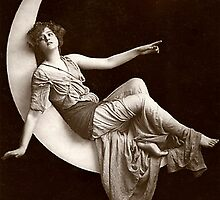 Vintage Beauty *Goddess on the Moon* by VintageMoon