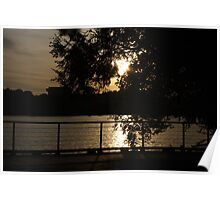 Sunset on the Potomac River, Washington DC Poster