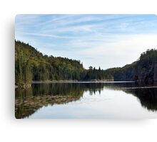 Summer Lake and Flowers Canvas Print