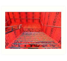 Red all over Art Print