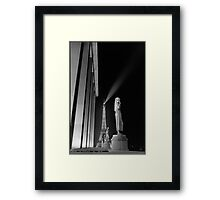 Eiffel Tower at night from the Trocadero, Paris Framed Print
