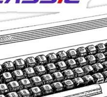Classic Keyboard C64 Sticker