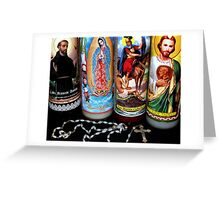 Religious Candles Greeting Card
