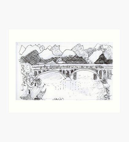 Guilin China, landscape Art Print