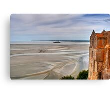 Low Tide at the Castle Canvas Print