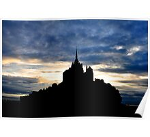 Mont St Michel at Sunset Poster