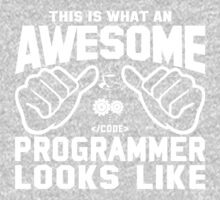 This is What an AWESOME PROGRAMMER Looks Like Kids Tee