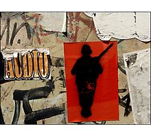 Gunman- Graffiti Photographic Print