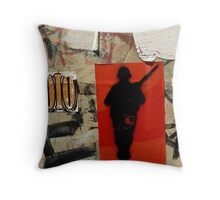 Gunman- Graffiti Throw Pillow