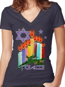 Candles 'N' Star Women's Fitted V-Neck T-Shirt