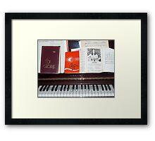 Piano Music Framed Print
