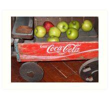 Apple Wagon Art Print