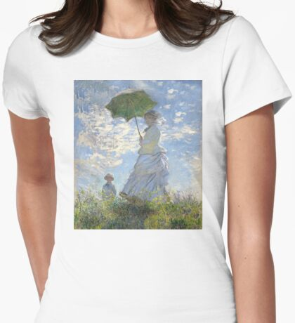 Woman with a Parasol Womens Fitted T-Shirt