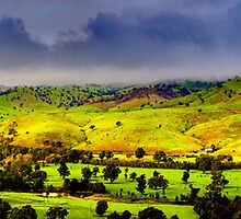 Gundagai - The gathering storm by Geoffrey Thomas