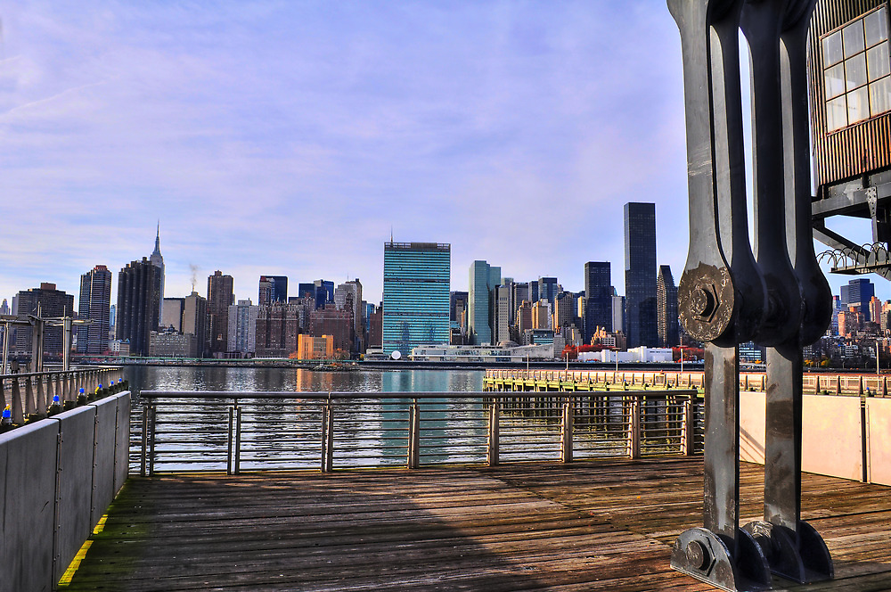 Manhattan View From Long Island City by April Anderson
