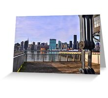 Manhattan View From Long Island City Greeting Card