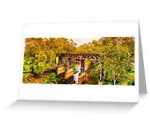 New South Wales - The Gundagai rail bridge Greeting Card