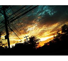 Blazing Sunset Photographic Print