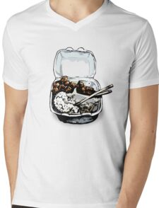 #12 Spicy Chicken Plate Mens V-Neck T-Shirt