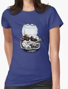 #12 Spicy Chicken Plate Womens Fitted T-Shirt